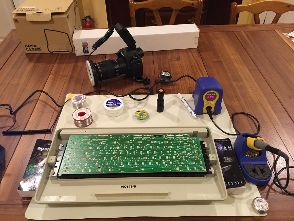 Symbolics 3600 Keyboard Repair in Progress